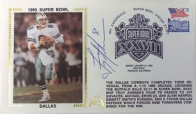 Troy Aikman Dallas Cowboys Signed Gateway First Day Cover