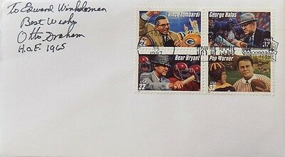 Otto Graham Cleveland Browns Signed First Day Cover To Ed Inscribed