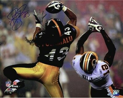 Troy Polamalu Interception Signed 16x20 Photo Steelers Steiner Sports