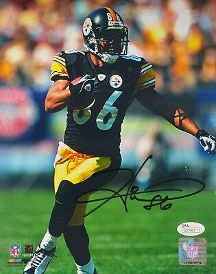 Hines Ward Signed Pittsburgh Steelers Run 8x10 Photograph SI Auth.