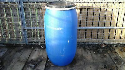 Blue Plastic Water Barrel Butt Garden 150 Litre With Lid And Clasp