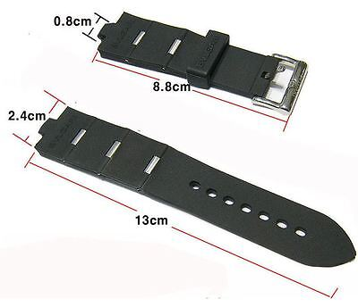 24mm  Rubber Strap BVLGARI Rubber Watch Strap Band