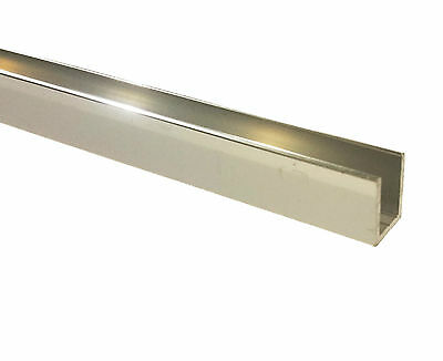 3 x 3m Lengths Mirror Polished 304G Capping Rail / Shower Channel (8-10mm Glass)