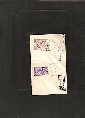Malaya Malacca 1948 Silver Wedding Cover