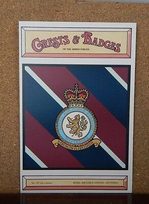 Royal Air force Station Wittering Crests & Badges of the armed services