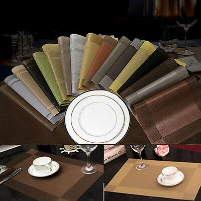 SALE CHEAP Modern PVC Coasters Kitchen Mat Dining Table Place Mats Placemats Pad