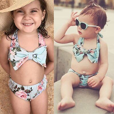 Toddler Infant Baby Girls Swimsuit Swimwear Bathing Suit Tankini Bikini 2PCS Set