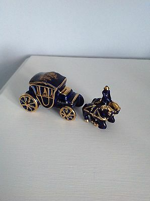 Limoges blue and gold