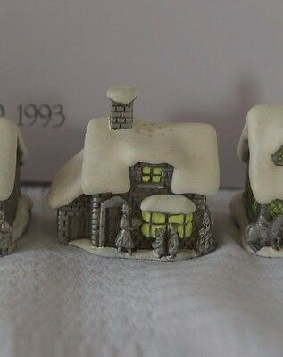 Sterling Pewter Thimble Snow English Village in Winter - The Shop