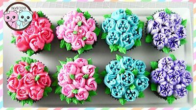 32Pcs Russian Tulip Icing Piping Nozzle Set Cake Cupcake Decoration Tips