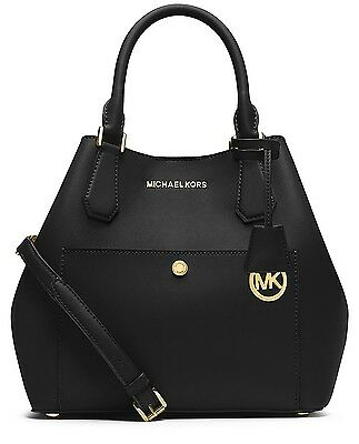 Michael Kors Tasche/Handtasche Greenwich LG Grab Color Pocket Black/Fuchia NEU!