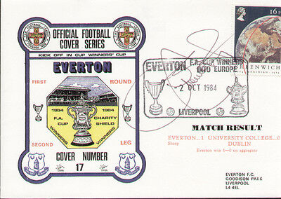 Everton in Europe 1984 Dawn First Day Cover - Signed Graeme Sharp