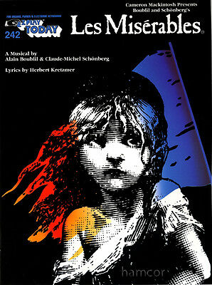 Les Miserables EZ E-Z Play Today 242 Very Easy Piano Vocal Sheet Music Book
