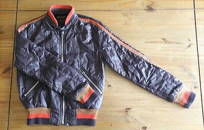 Pop Quilted Bomber Jacket in Brown and Orange Size 1 (Small) Britpop 1990s