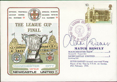 1976 League Cup Final Cover Man City V Newcastle United - Signed Dennis Tueart