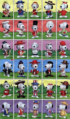 Snoopy Mc Donald 's Giro del Mondo World Tour Set 25 pezzi pcs 1999 HAPPY MEAL