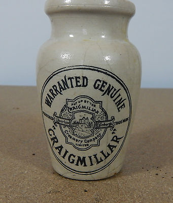Craigmillar Warrented genuine cream pot Liberton Edinburgh  11cm tall