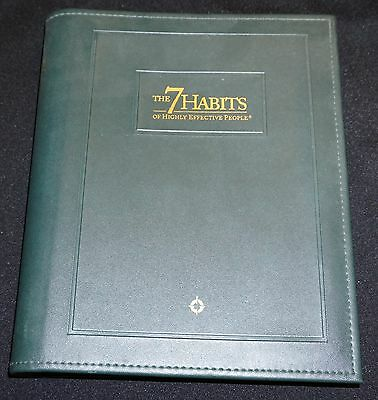 The 7 Habits of Highly Effective People Leather Training Course Workbook English