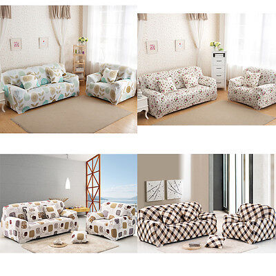 Settee Sofa Couch Cover Throw Easy Fit Slipcover 1 2 Seater Protector Elastic