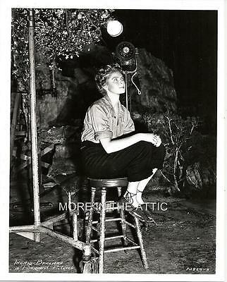 Young Innocent Ingrid Bergman On The Set Of A Paramount Pictures Film