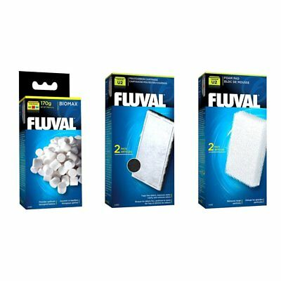 Fluval U2 Aquarium Filter Replacement Biomax, Filter Foam and Poly Carbon BUNDLE