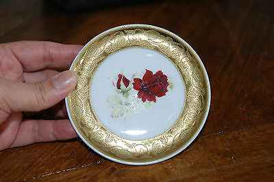 Beautiful small Decorative Rose Pin Plate by Kleiber Bavaria - 10 cm