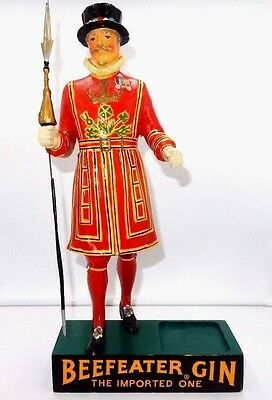 "VINTAGE 1960's BEEFEATER GIN 1 QUART BOTTLE DISPLAY 15"" GUARD STATUE by KOBRAND"
