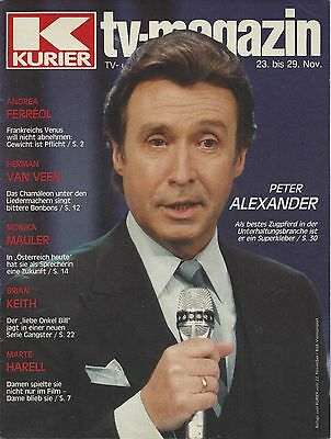 Kurier TV Magazin 1985: Peter Alexander Andrea Ferreol Marte Harell Brian Keith