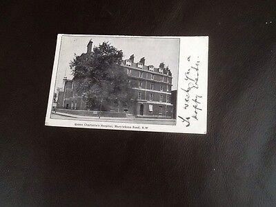 London. Queen Charlottes Hospital. Early 1900's. Vintage Postcard.