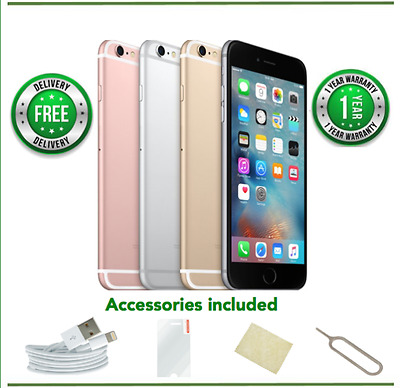 Apple iPhone 6s 16/32/64/128GB Gold/Rose/Silver/Grey Unlocked-Grade A-Excellent