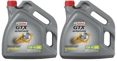 Castrol GTX Ultraclean 8L Car Engine Oil 2x 4 Litres 10W40 Part Semi Synthetic