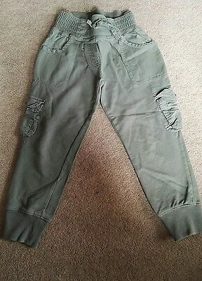 Next khaki combat joggers for girl age 5 years old