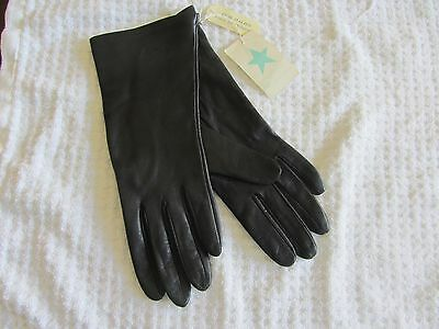Italian Leather Women's Gloves NEW with Tags Dark Navy Color