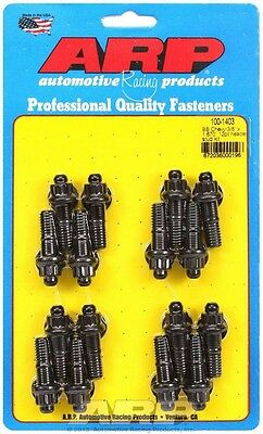 ARP Header Stud 1.670 in 12 Point Nuts Black Oxide BBC 16 pc P/N 100-1403