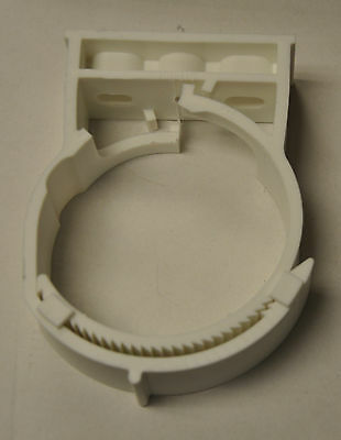 White Pipe Hanger for 4 inch PVC pipe and conduit  Nylon