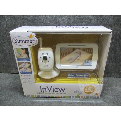 "Summer Infant 28650 InView 5"" Digital Color Baby Monitor, White"