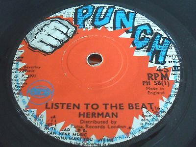 """Herman - Listen To The Beat / Sounds Only   7"""" PUNCH Skinhead Roots LISTEN"""