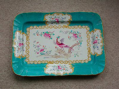 Brilliant large early Minton dish – Victorian late 19thC