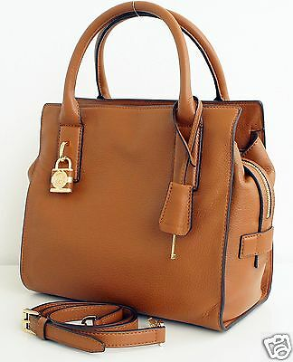 Michael Kors Tasche/Bag McKenna Medium Satchel Leather Luggage NEU!
