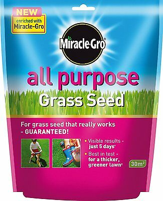 SCOTTS MIRACLE-GRO ALL PURPOSE GARDEN LAWN GRASS SEED FOOD FEED 900g