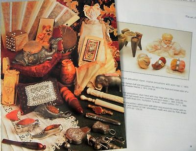 26p History Article + Pics - Antique Pin Cushions & Needle Cases -Sewing Tools