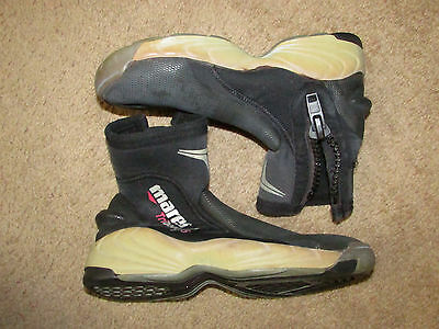 MARES 7mm ROCK BOOTIES size 4 SCUBA DIVING BOOTS - SNORKELING - HARD SOLES