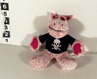 "6"" Skull And Crossbones George Soft Toy Rainbow Tv Pink Zippy"