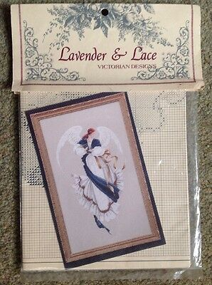American Lavender & Lace Embroidery Pattern Of Angel