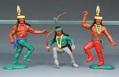 TIMPO 1970s PLASTIC SWOPPET TYPE 4th SERIES INDIANS (includes WAGON DRIVER)