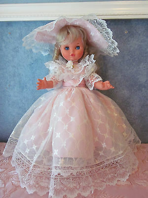 Vintage CREMONA FURGA ITALY DOLL w/Beautiful Pink Gown  all Original