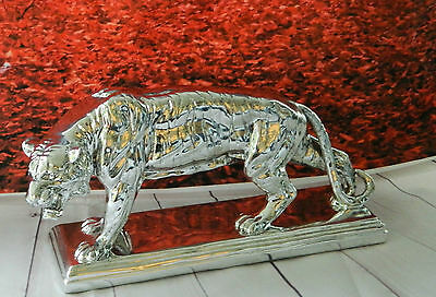 Snarling Tiger From Silver Reflections Range Ornament Figurine