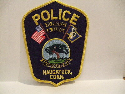 police patch  NAUGATUCK POLICE CONNECTICUT