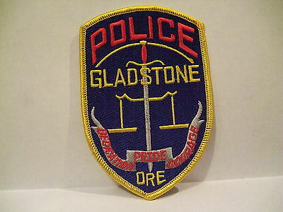 police patch  GLADSTONE POLICE OREGON