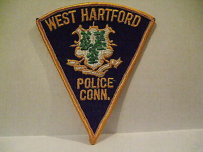 police patch  WEST HARTFORD POLICE CONNECTICUT PIE SHAPE